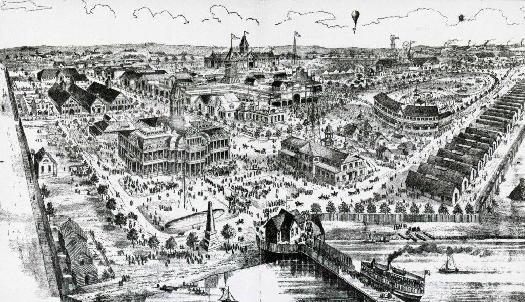 View Of Exhibition Grounds, 1887