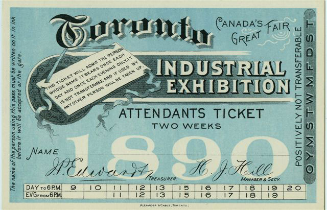 1890 Two-week Ticket