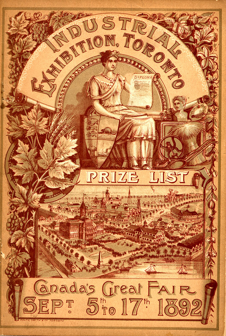 1892 Prize List Cover