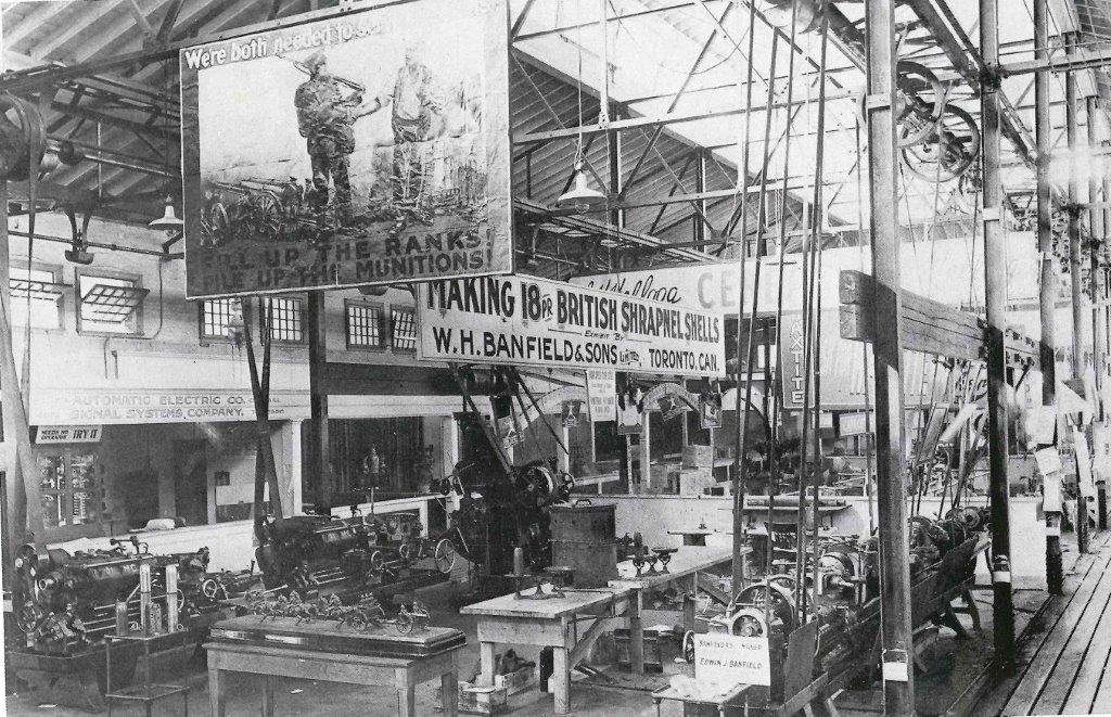 Machinery Hall Exhibit, 1916