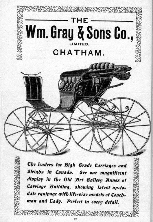 William Gray  and  Sons Ad In Exhibition Programme, 1903