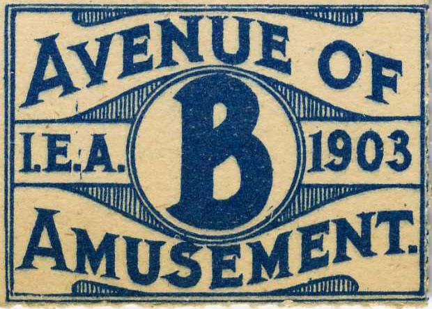 Ticket To The Avenue Of Amusement, 1903