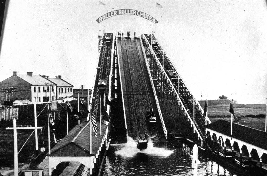 Chutes In The CNE Midway, ca. 1900s