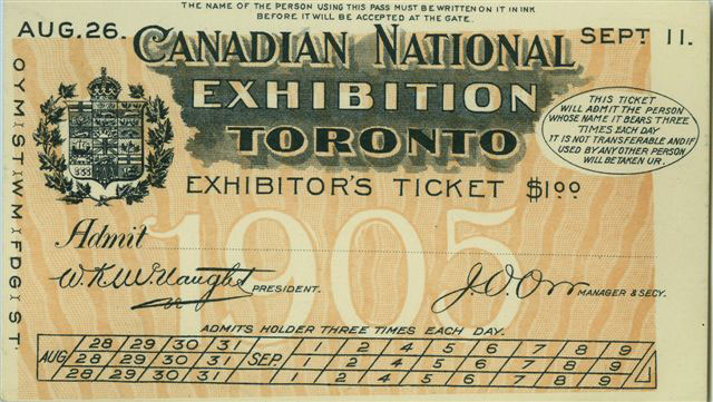 Exhibitor's Ticket, 1905
