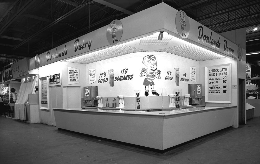Donlands Dairy Booth In New Food Building, 1954