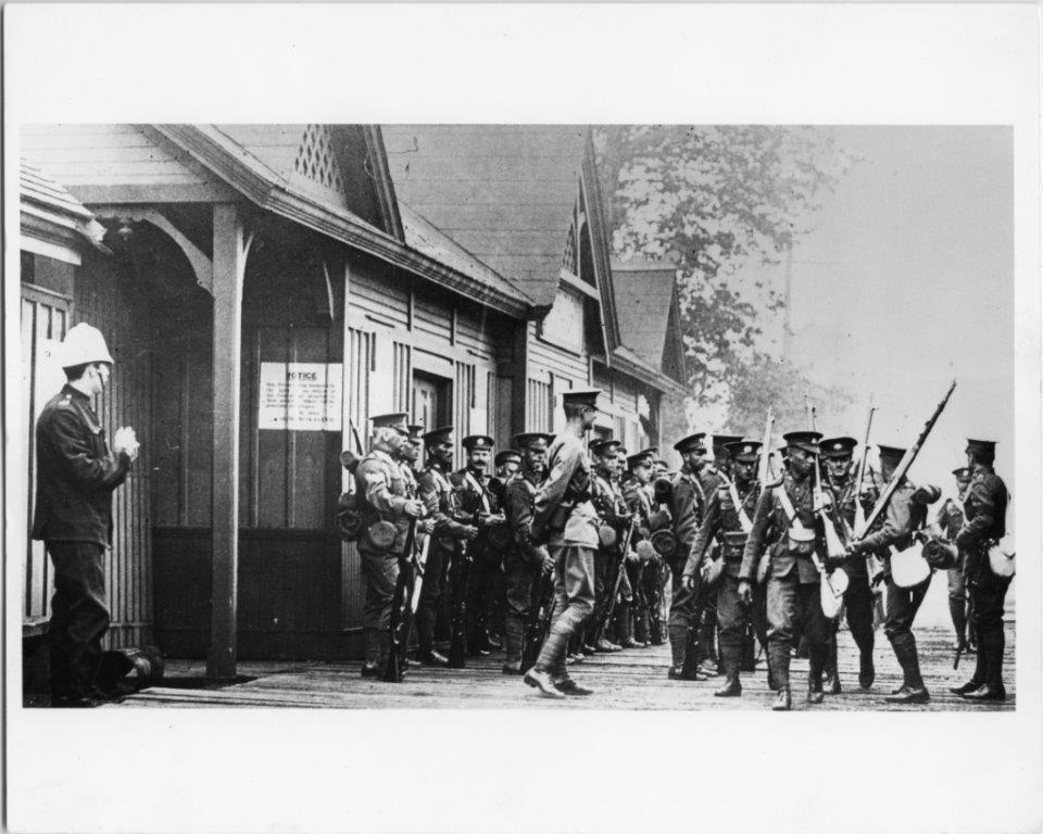 Soldiers On The CNE Grounds, ca. 1915