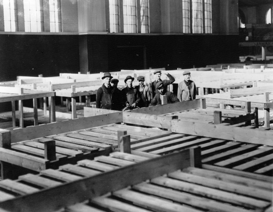 Building Bunks For The Transportation Building During The Great War
