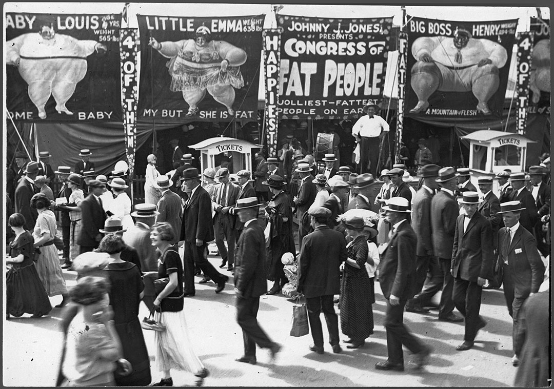 CNE Midway Sideshow, ca. 1919