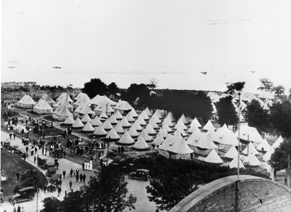 Military Camp On The CNE Grounds During World War I