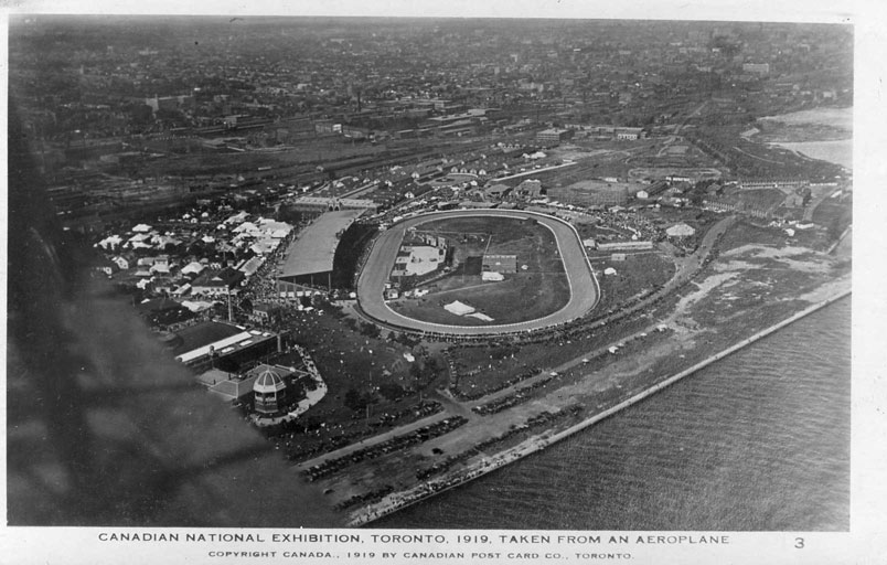1919 Aerial View Of The CNE Grounds