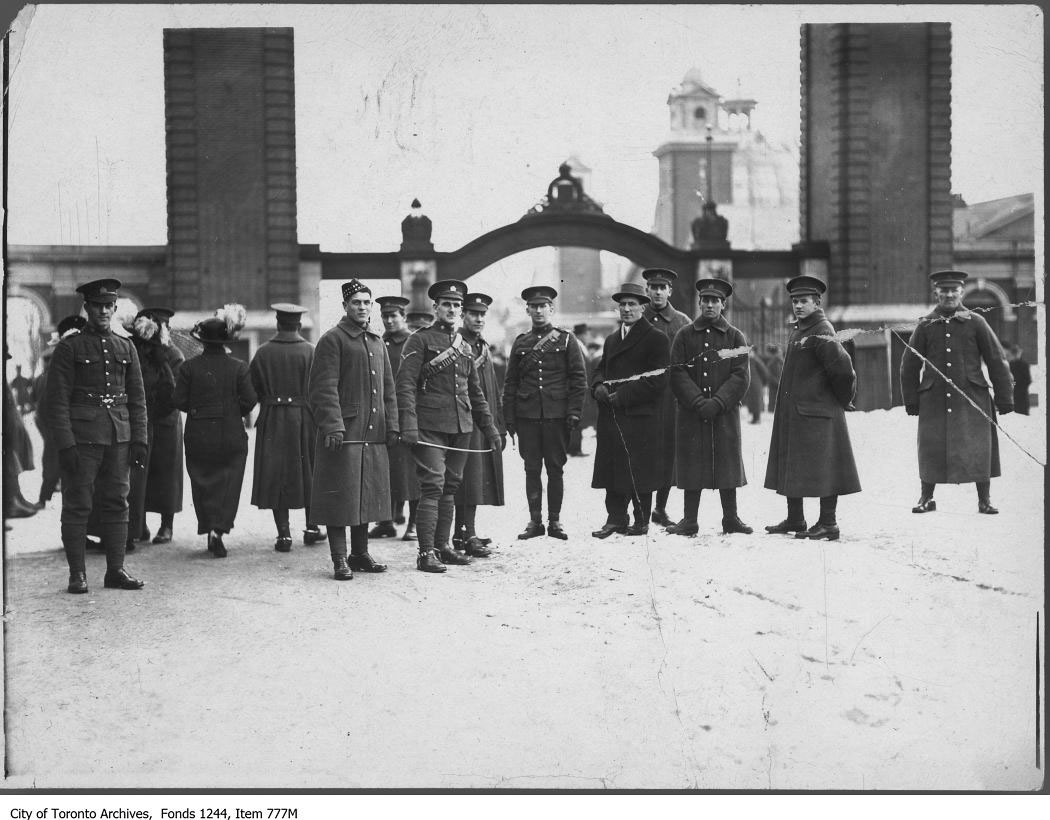 Soldiers At The Dufferin Gate During World War I