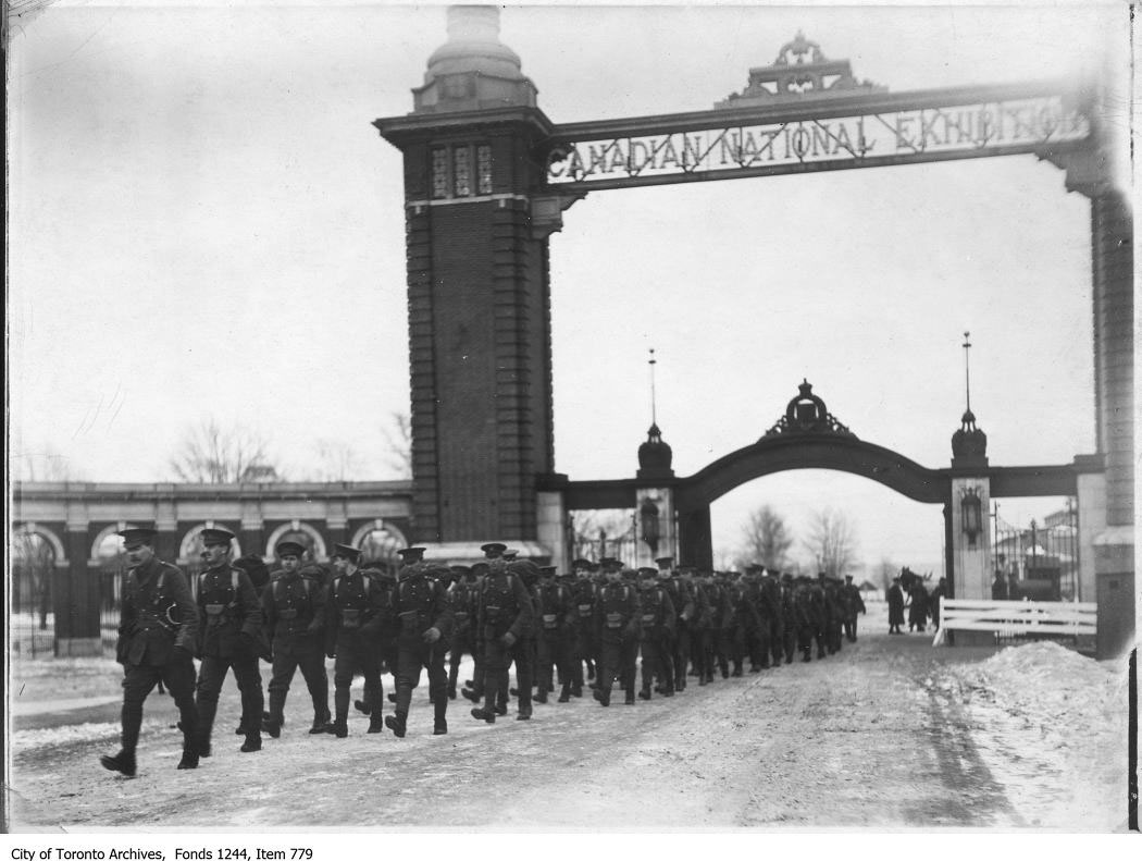 Troops Leaving Via Dufferin Gates During The Great War