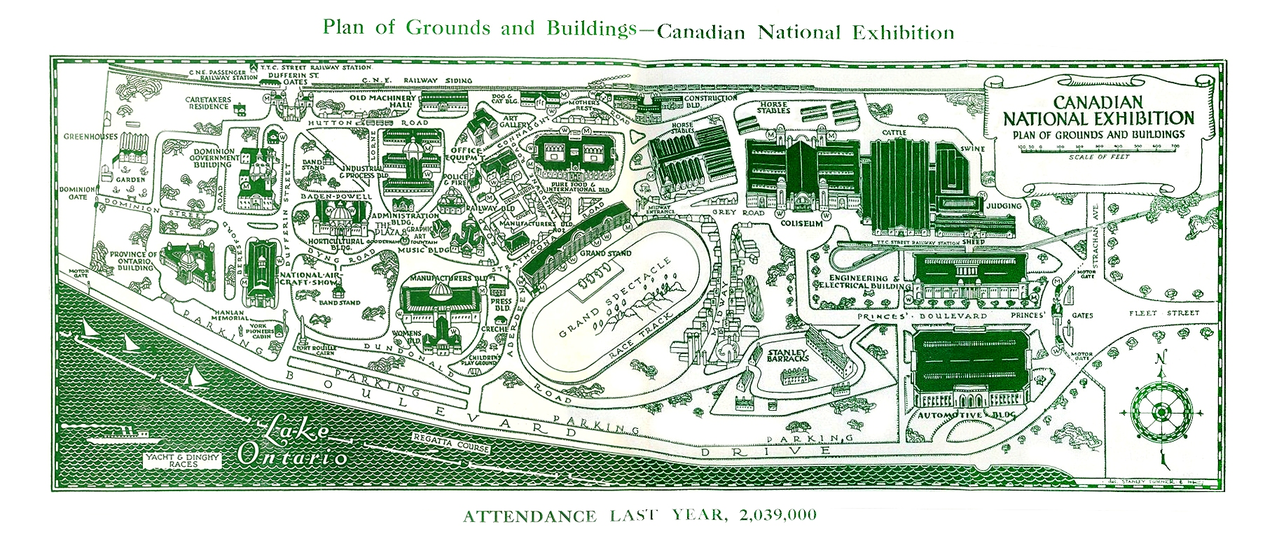 Grounds Map In 1929 CNE Programme