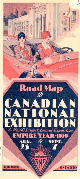 1929 Road Map To The Cne
