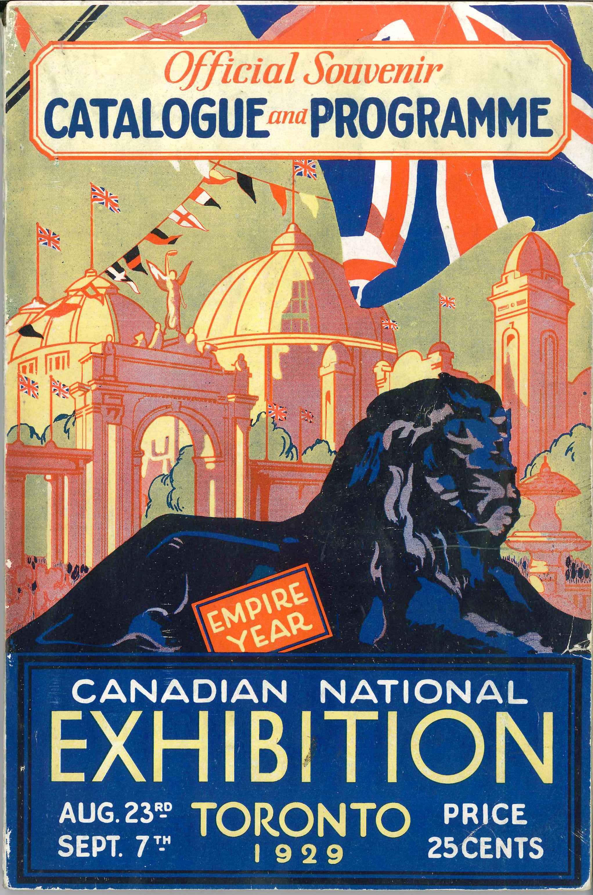 1929 CNE Programme Cover