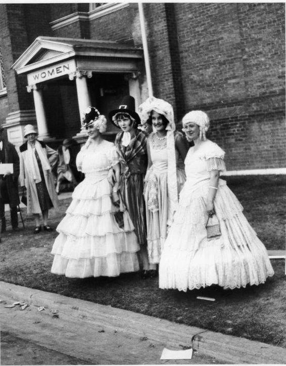 Women Dressed In Period Costumes @ The 1929 CNE