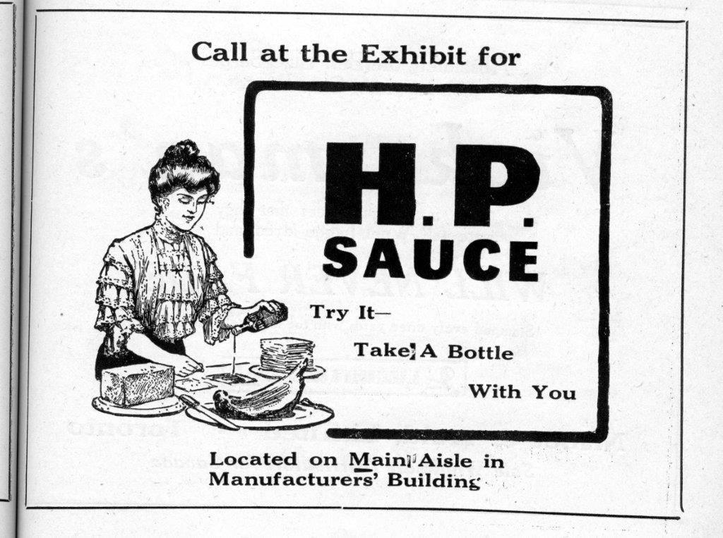 HP Sauce Ad In CNE Programme, 1920