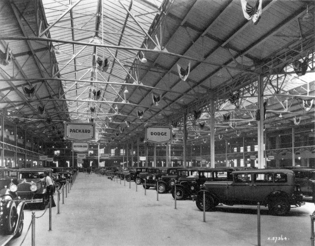 Automotive Show In Transportation Building, 1920
