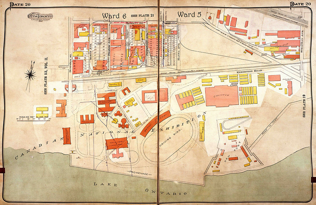 CNE Grounds Map, 1924