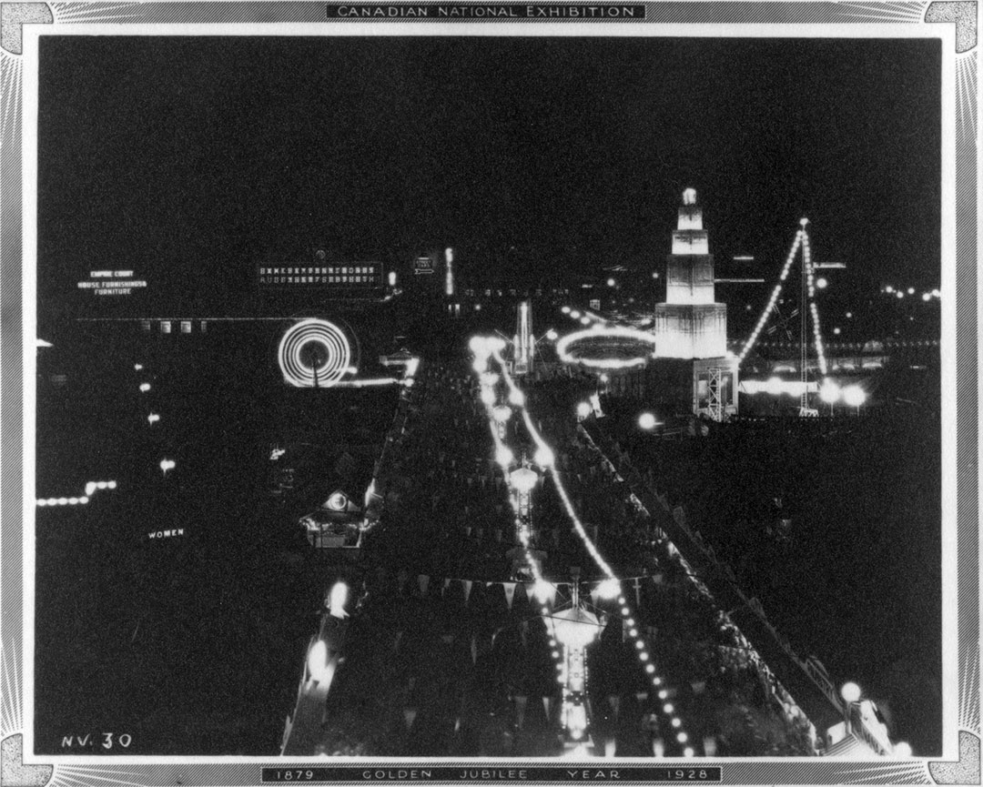 CNE Midway At Night, 1928