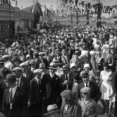 CNE Midway Crowd ca. 1928