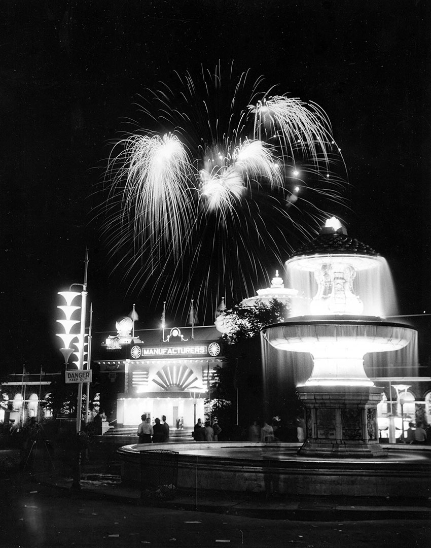 Gooderham Fountain At Night, 1920