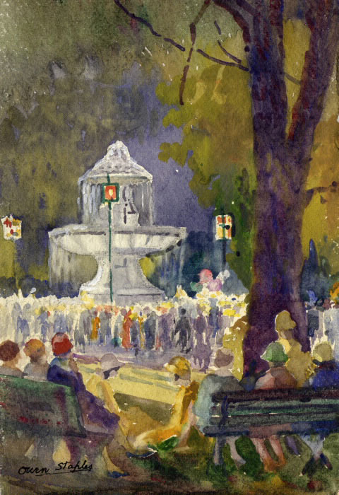 Gooderham Fountain Painting, 1928