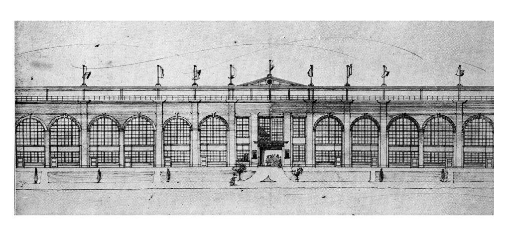 Gouinlock Sketch For New Grand Stand, 1907