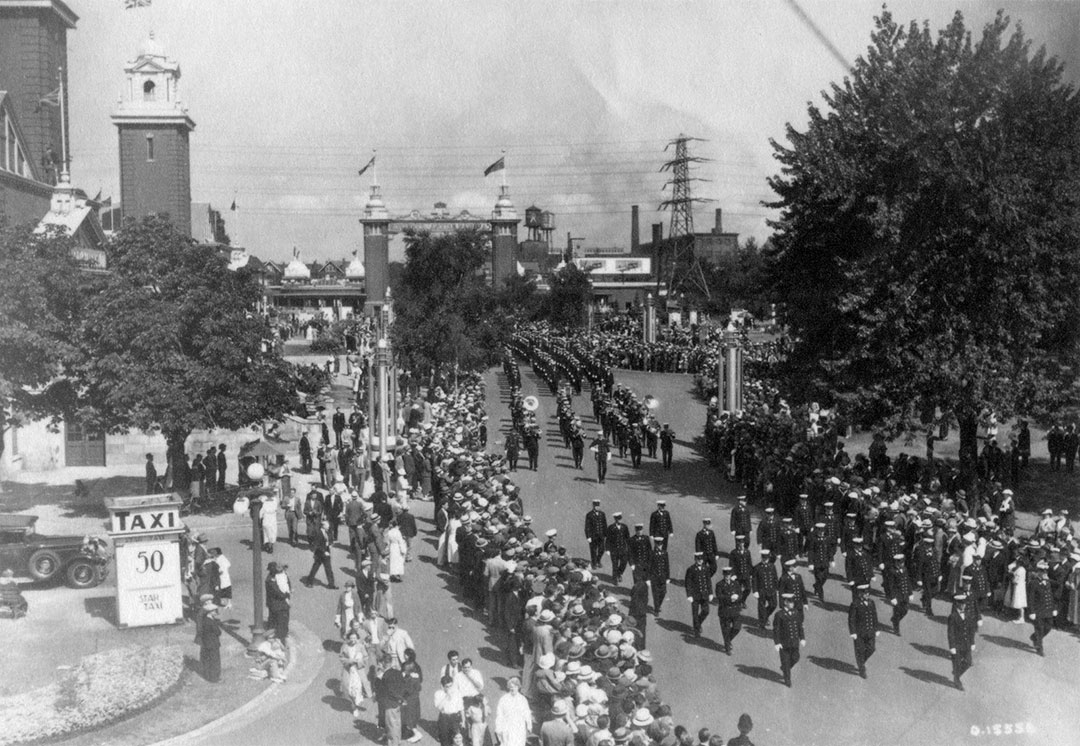 Toronto Fire Department In Labour Day Parade, 1920s