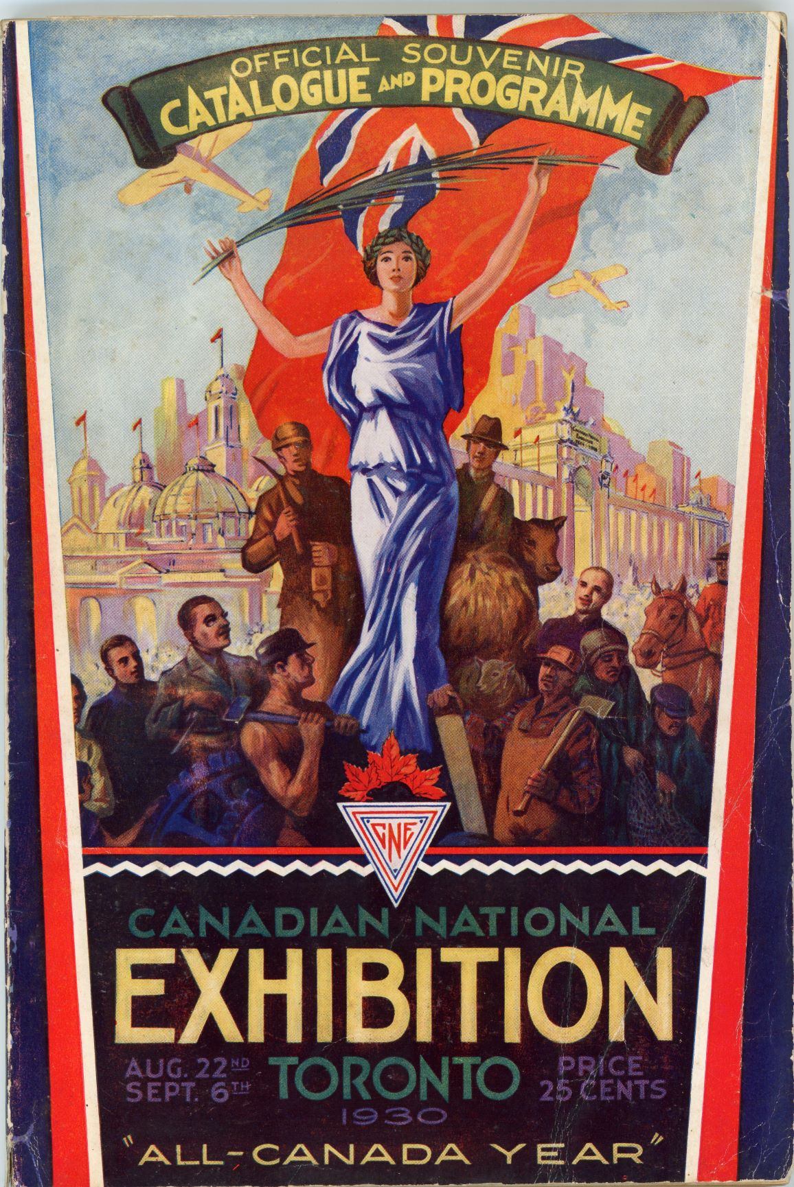CNE Official Catalogue  and  Souvenir Programme Cover, 1930