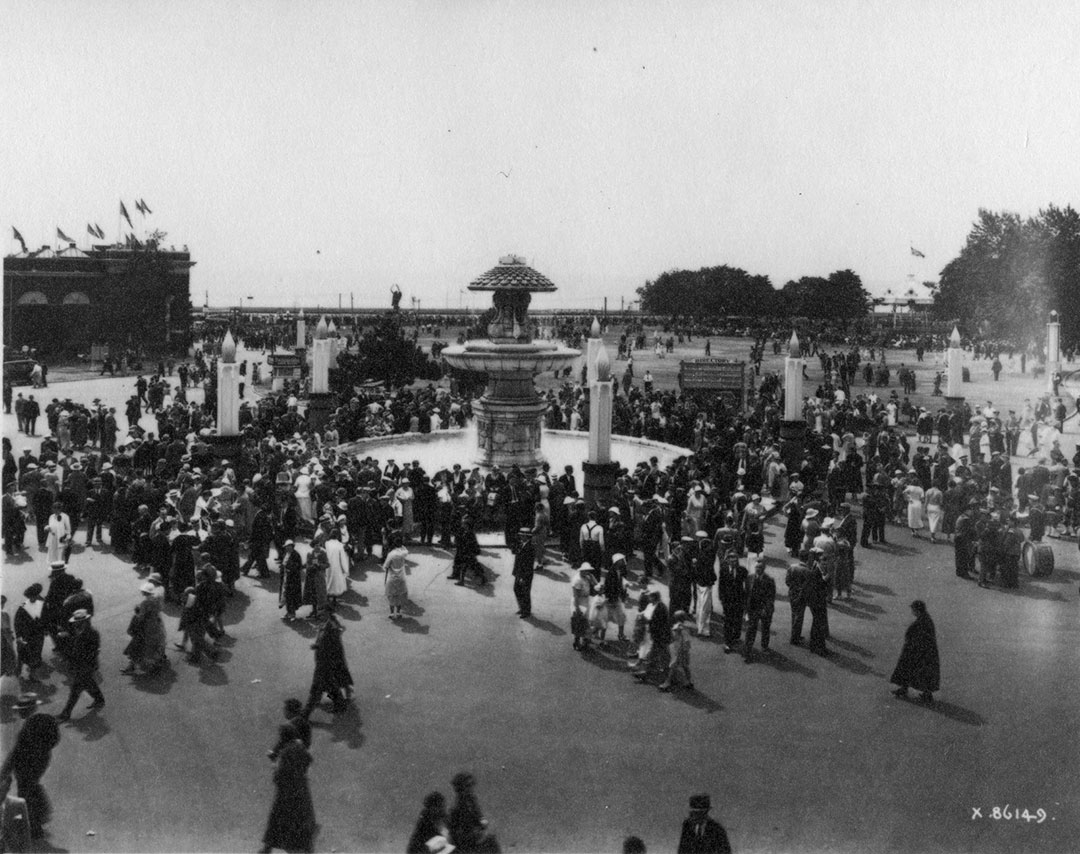 CNE Crowds At The Gooderham Fountain, 1934