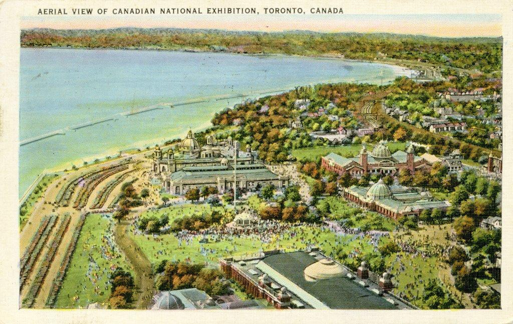 Post Card With Aerial View Of CNE Grounds, 1936