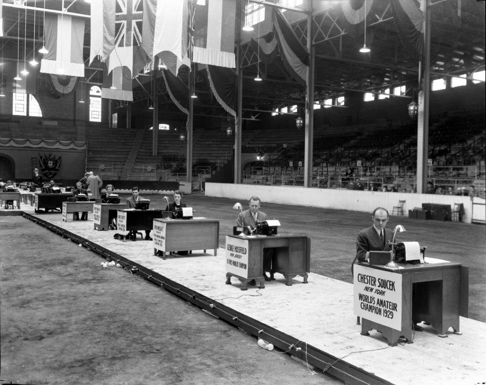 1936 Typing Competition Finalists In The Coliseum