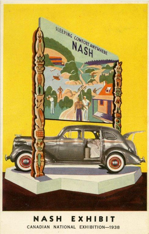 Post Card Advertising The Nash Car Exhibit @ The 1938 CNE
