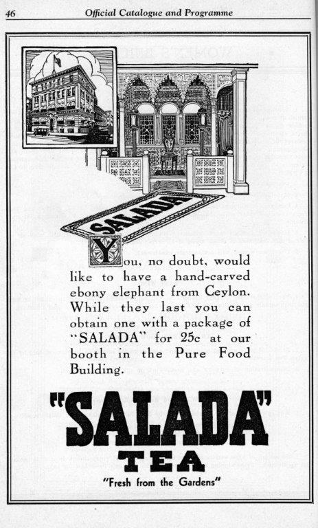 Salada Tea Ad In CNE Programme, 1935