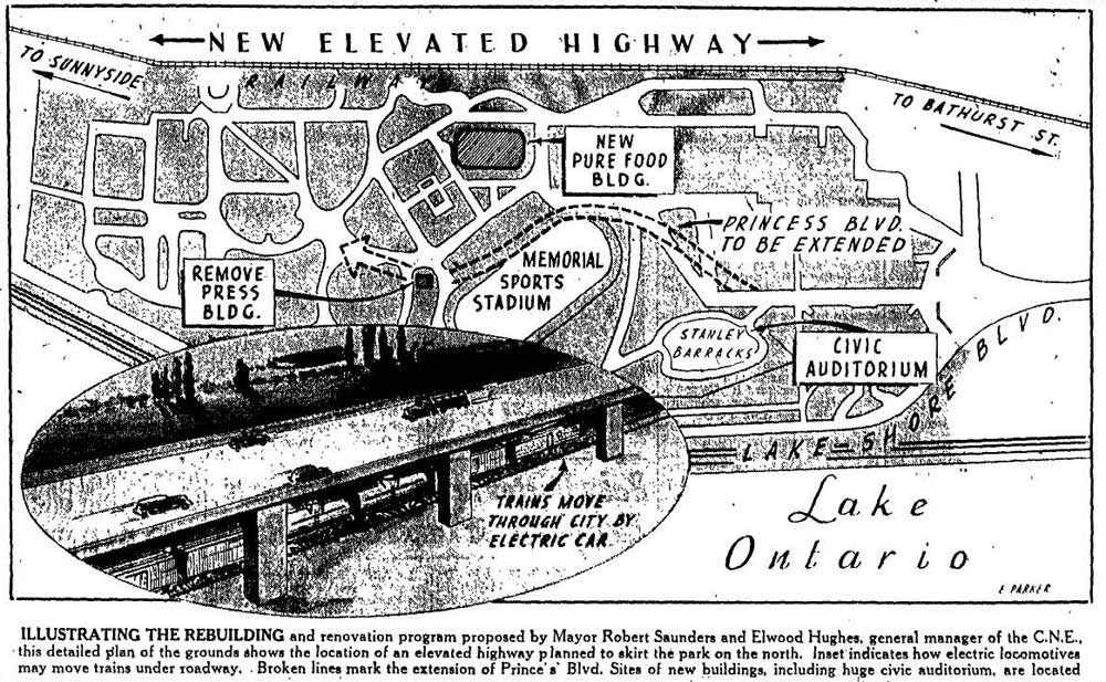 Plan For Exhibition Grounds  and  Environs, 1946