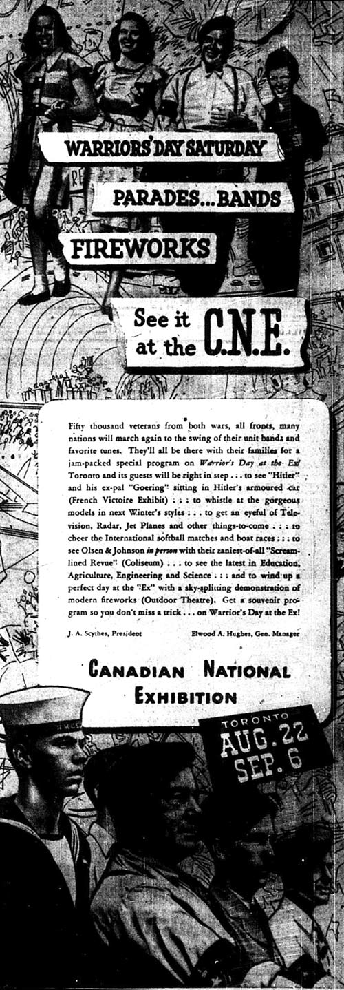 CNE Warriors Day Ad, 1947