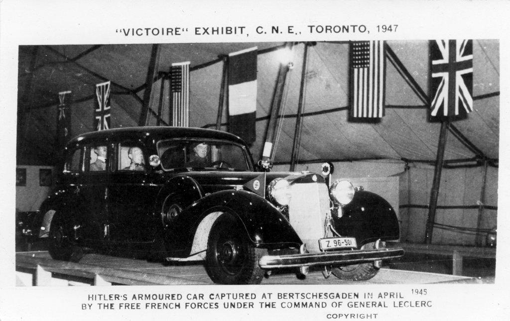 Hitler's Vehicle On Display At The 1947 CNE