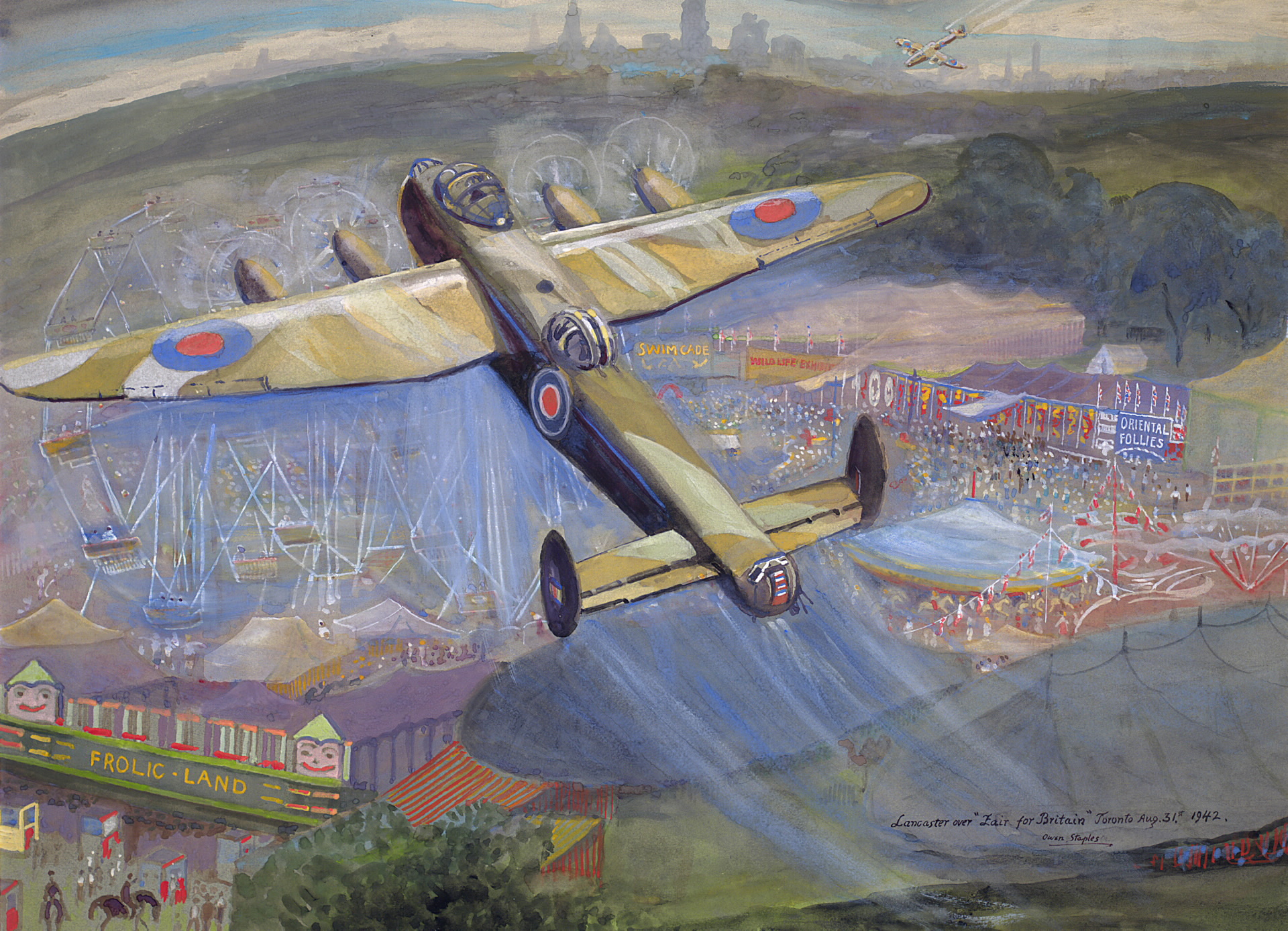Owen Staples 1942 Painting Of The Fair For Britain