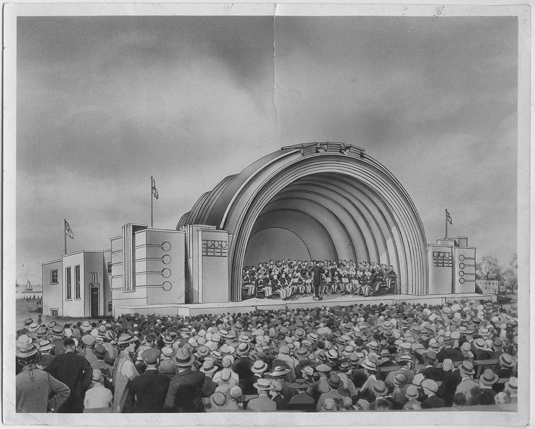 Bandshell Drawing, 1940s