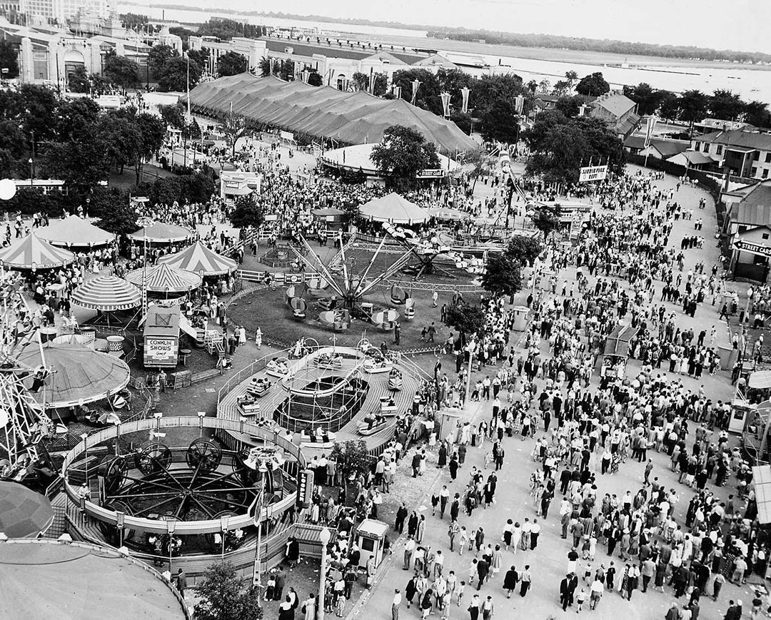 Aerial View Of The Conklin Midway, 1940