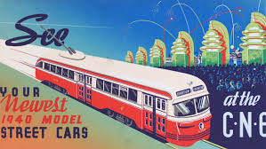 TTC Streetcar At The CNE Poster, 1940