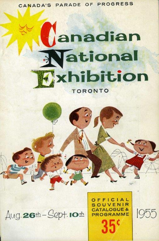 CNE Souvenir Catalogue  and  Programme Cover, 1955