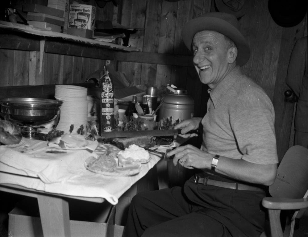 Jimmy Durante Chowing Down, 1951