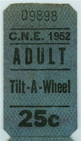 Ticket For The Tilt-A-Wheel, 1952