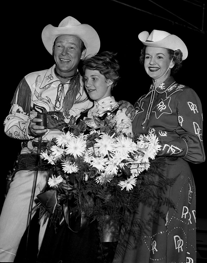 Roy Rogers, Dale Evans  and  Marilyn Bell, 1954
