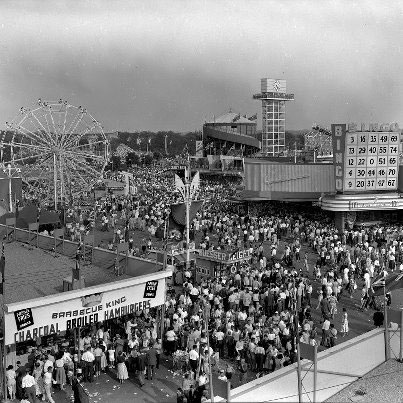 The CNE Midway, 1955