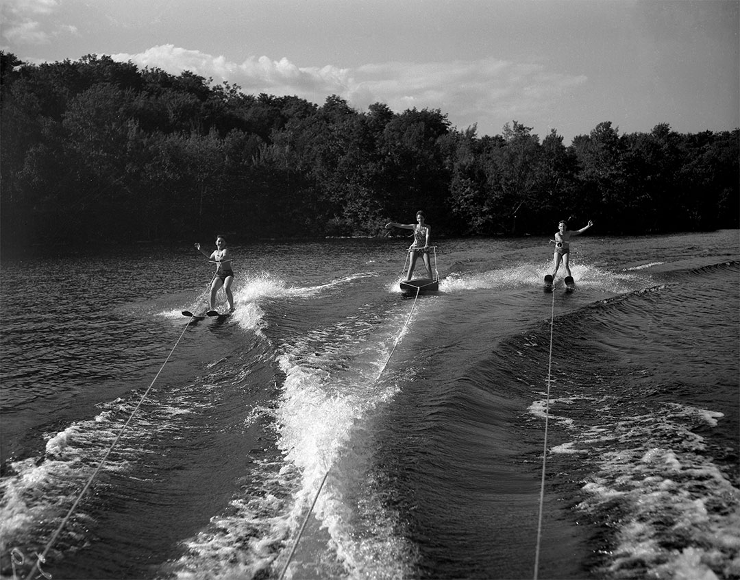CNE Waterskiers On The Waterfront In The 1950s