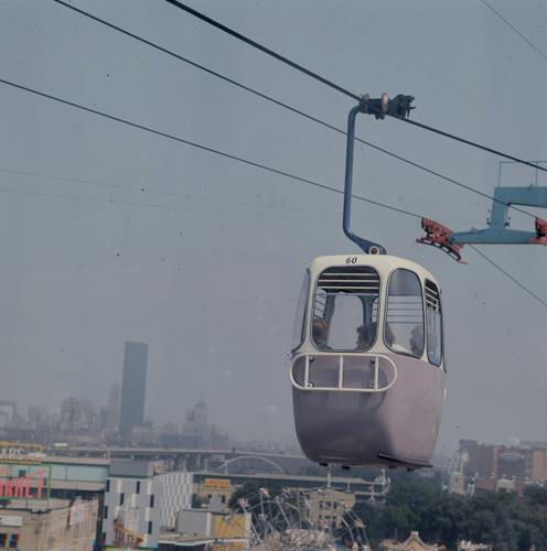 CNE Alpine Way With The City's New TD Tower In The Background, ca. 1967