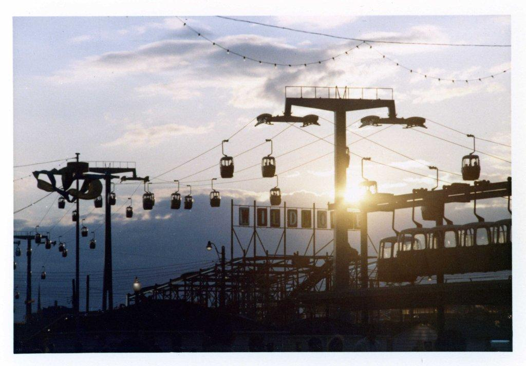 CNE Alpine Way At Sunset, ca. Late 1960s